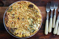Leftover Spaghetti Frittata, Honest Fare by Gabrielle Arnold