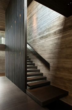 Westmere house by Ponting Fitzgerald architects Staircase Design Modern, Stair Railing Design, Home Stairs Design, Home Room Design, Modern House Design, Bar Interior, Interior Stairs, Home Interior Design, Interior Lighting