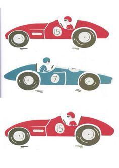 Vintage racing cars Fabric wall stickers by ItsSewKay on Etsy, £6.99