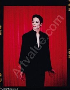 "Arno Bani, Michael Jackson ""Sur fond rouge"", photoshoot 1999 