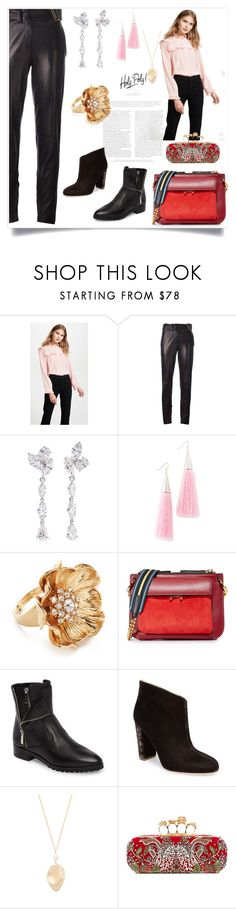 """""""Fashion for all"""" by denisee-denisee ❤ liked on Polyvore featuring Amanda Uprichard, Yves Saint Laurent, Anyallerie, Eddie Borgo, Kate Spade, Marni, MICHAEL Michael Kors, Malone Souliers, Elizabeth and James and Alexander McQueen"""