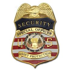 Us Security Special Officer Asset Protection Badge