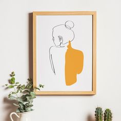 Figura femenina abstracta de una línea imprimible cuerpo   Etsy Art And Illustration, Illustrations Posters, Animal Illustrations, Minimal Art, Art Minimaliste, Back Art, Wall Art Designs, Poster Designs, Painting & Drawing