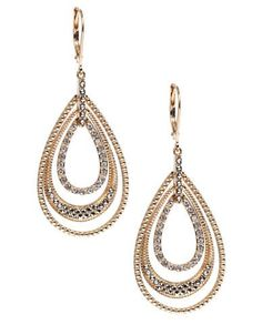 Judith Jack 14K Gold and Swarovski Crystal Drop Earrings Women's Gold