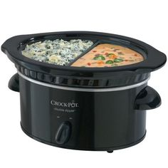 Crock-Pot SCDD Manual Double Dipper Warmer, Black Perfect for get togethers and holidays! Crock Pot Slow Cooker, Slow Cooker Recipes, Crockpot Recipes, Crock Pots, Slow Cooking, Cooking School, Cooking Ideas, No Bake Energy Bites, Specialty Appliances