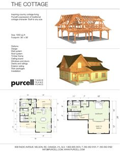 Purcell Timber Frames - The Precrafted Home Company - The Cottage