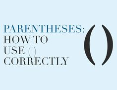 Parentheses indicate less important comments to the side. If they're within another sentence, the period usually goes outside them.