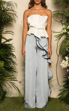 Road Trip Ruffled Side Pants by JOHANNA ORTIZ for Preorder on Moda Operandi