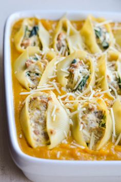 Butternut Squash and Sausage Stuffed Shells by rachschulltz #Pasta #Shells #Butternut_Squash #Sausage