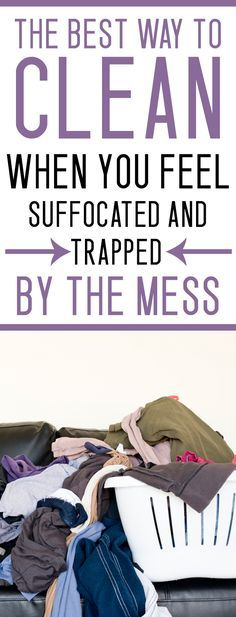 HOW TO CLEAN WHEN YOU ARE OVERWHELMED BY THE MESS - this one question makes it so easy!