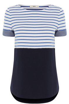 This stripy top is a layering DREAM. Half stripy, half block colour and a whole lot of pretty, we love pairing ours with faded denim to match the turn up sleeves or tucked into a pretty jacquard midi skirt.