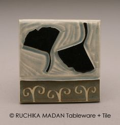 Ginko Leaves 3x3 tile Ruchika Madan by ruchika on Etsy, $24.00