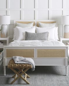 Harbour Cane Bed - Beds & Headboards | Serena and Lily