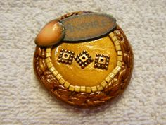 Polymer Clay Focal Art Cabochon by beaddot on Etsy, $20.00