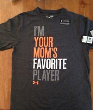 Youth Large Cc T Shirt Graphic Under armour I'm Your Moms Favorite Player