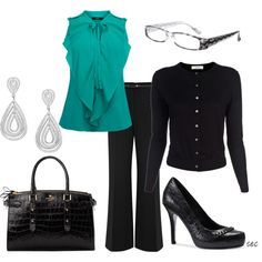 Business Black 2, created by coombsie24 on Polyvore