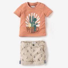 Komplet t-shirt i szorty R Baby Little Boy Outfits, Toddler Outfits, Baby Boy Outfits, Kids Outfits, Fashion Kids, Baby Boy Fashion, Zara Kids, T Shirt And Shorts, Kids Shorts