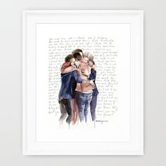 We+could+be+the+greatest+team...+Framed+Art+Print+by+WaterLyrics+-+$36.00