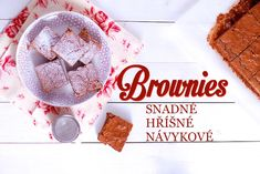 Brownies: recept na super snadný čokoládový moučník Brownies, Cake Recipes, Yummy Food, Sweets, Cooking, Breakfast, Cakes, Cake Brownies, Kitchen