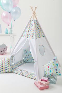 Total Teepee Set with Poles and Mat Kids Play Tent Tipi for Kids - Best Birthday Gift by Wigiwama Ready to Ship Kids Tents, Teepee Kids, Teepees, Childrens Teepee, Teepee Play Tent, Best Birthday Gifts, Kids And Parenting, Kids Playing, Kids Bedroom