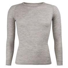 Adults Merino L/Sleeve Crew neck Top: Silver How To Run Longer, Outdoor Gear, Men Sweater, Crew Neck, Turtle Neck, Unisex, Long Sleeve, Merino Wool