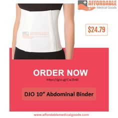 Elastic binder with four sewn-in plastic stays provides abdominal and lumbar support.  This personal abdominal binder is Ideal for providing compression and it also provide support for strains and weakness of the abdominal area.  Buy this back pain reliever at affordable price at 24.79 only. This is one of the popular brand by DJO. Check DJO 10″ Abdominal Binder complete detail at https://goo.gl/CwZb48