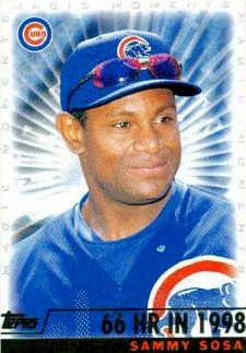May 26, 1997  Both Sammy Sosa and Tony Womack (for the Pirates) hit an inside the park home run in the same inning.  Cubs defeat the Pirates 2-1.  Photo from Bleed Cubbie Blue who has Sosa as #3 on the top 100 Chicago Cubs of all time.  http://sbn.to/Jmqscb