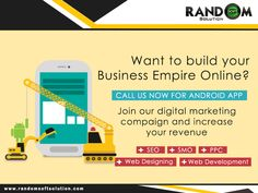 Optimum #Android app development services at Random Soft Solution ensures that an app is well optimized in all the matters including #performance, #speed and #appearance. Visit Today: www.randomsoftsolution.com