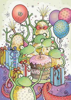 View album on Yandex. Happy Birthday Frog, Happy Birthday Dear Friend, Happy Birthday Celebration, Happy Birthday Pictures, Birthday Greetings, Birthday Wishes, Birthday Cards, Birthday Memes, Frog Drawing