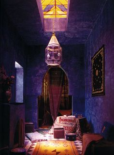 Exotic bedroom with Moroccan style pendant lamps Decorative Bedroom