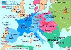 Kaart van Europa napoleon bonaparte. Gedurende zijn hele loopbaan heeft Napoleon veel belang gehecht aan de status en eer van zijn familie. Hij heeft steeds de belangen van zijn familie gediend (nepotisme).