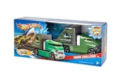 Hot Wheels Shark Challenge Rig Vehicle by Mattel. $19.85. Makes Hot Wheels adventures extra thrilling. Hot Wheels Creature Rigs Hauler Collection. Cool creature themes like sharks with hungry jaws. Push around play action with an all in one vehicle Collection. Sure to be a collector favorite. Hot Wheels Creature Rigs Hauler Collection: It's the two things Hot Wheels is famous for, push around play and skill and action, all in one vehicle Collection! Cool creature theme...