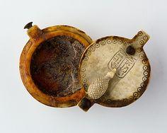 Ebony and Ivory Unguent Box of Queen Nefertari ca. 1295-1186 BCE Egypt.