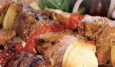 Grekiskt grillspett. Gott med tzatziki och pommes alt. ris