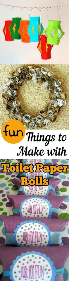 Fun Things to Make with Toilet Paper Rolls. DIY, DIY clothing, sewing patterns, quick crafting, tutorials, DIY tutorials.