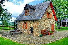 Normandy France small house tiny home cabin cottage. I so want to live in this sweet cottage.