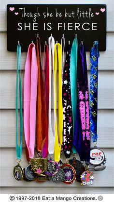 Items similar to Girls Sports Medal Holders is Fierce,Other Colors and Sizes Available on Etsy