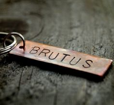 Pet TagBrutus Custom  Copper ID by DawgTown on Etsy, $12.00