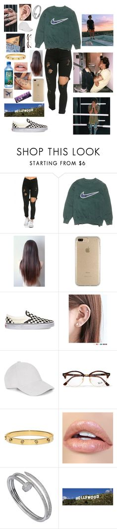 """Walks baby"" by haleymbrown ❤ liked on Polyvore featuring NIKE, Speck, Vans, Pinkrocket, Ray-Ban, Tory Burch and Cartier"