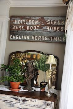 common ground : Vintage Inspiration #86 Serendipity Traditional Furniture, Traditional Decor, Dresser, Dinette Sets, Diy Wall Decor, Home Decor, Jpg, Decorating On A Budget, Serendipity