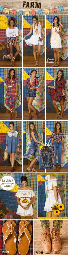 Looks festa junina Farm Costumes, Holidays And Events, Fashion Outfits, Womens Fashion, Event Decor, Party Time, Nice Dresses, Dress Up, Street Style