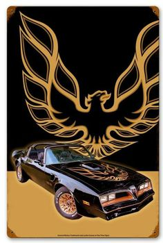 Firebird Car, Pontiac Firebird, Car Dates, Car Signs, Retro Logos, Metal Signs, Fast Cars, Chevrolet Logo, Metal Working