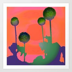 Sunset Thistles Art Print by imagology Art Prints, Sunset, Art Impressions, Sunsets