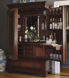 The Havana Barmoire: A Fusion Of Bar U0026 Armoire | Frontgate Blog