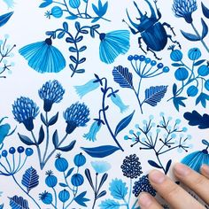 """""""Mi piace"""": 8,053, commenti: 80 - Kirsten Sevig (@kirstensevig) su Instagram: """"Adding some beetles because I feel like it. I'll add more tomorrow, and maybe a moth or two? or a…"""""""