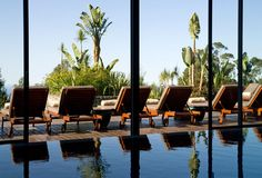 Choupana Hills Madeira Portugal Outdoor Pool, Outdoor Gardens, Outdoor Furniture, Outdoor Decor, Sun Lounger, Bungalow, Portugal, Around The Worlds, Spa