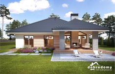 New Model House, Model House Plan, My House Plans, Craftsman House Plans, Simple Bungalow House Designs, Modern Bungalow House, Classic House Exterior, Dream House Exterior, Two Bedroom House Design