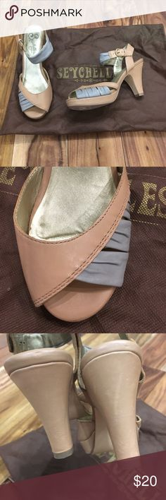 Seychelles gray & tan sandals w/ dust bag size 6.5 EUC.  These were only worn once or twice.  Seychelles makes such a great dressy sandal.  So cute with skirts! Anthropologie Shoes Sandals