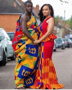 See How Ghanaian Couples Are Rocking This Iconic Super Luxe Big Day Looks in Kente - Wedding Digest Naija African Dresses For Women, African Attire, African Wear, African Women, African Models, African Style, African Inspired Fashion, African Men Fashion, African Fashion Dresses