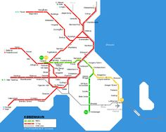 Copenhagen Metro Map 2004 © UrbanRail.Net